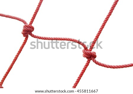 Red Net on White Background