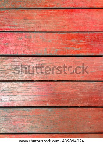 Red oak wood planks texture - top view background - stock photo