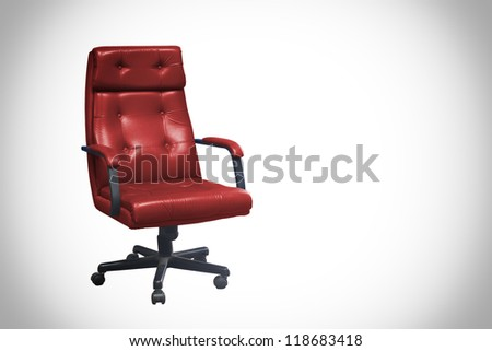 red Office chair isolated on white - stock photo