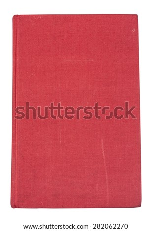 Red old hardcover book