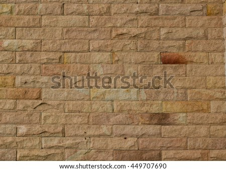 Red old worn brick wall texture background. - stock photo