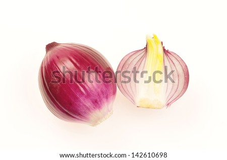 Red Onions isolated on a white background