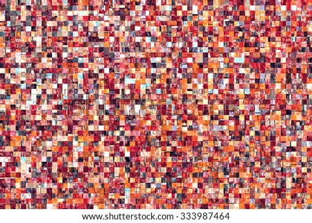 Red Orange Tiles Abstract Background