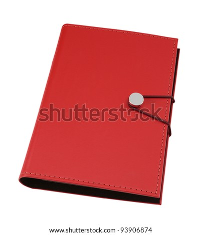 red organizer isolated on white background - stock photo