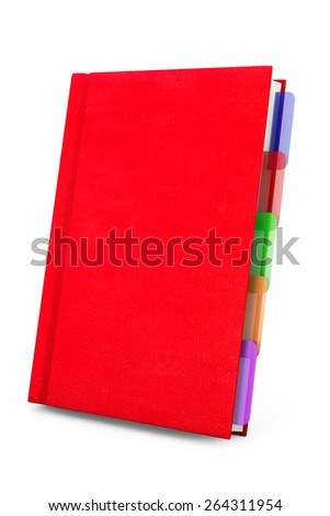 Red Organizer Notebook on a white background - stock photo