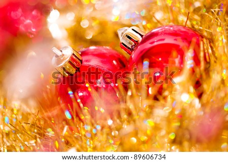 red ornaments for Christmas tree