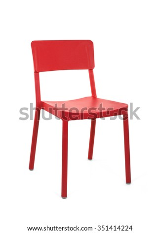 Red Outdoor Chair, Three Quarter View