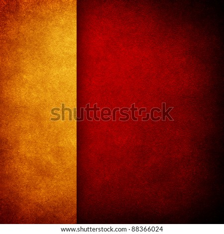 red paint background with gold strip - stock photo
