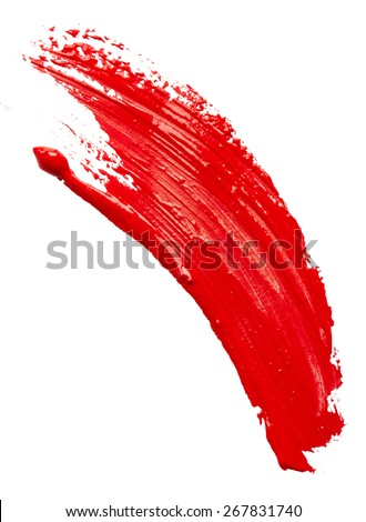 Red paint isolated on white background - stock photo