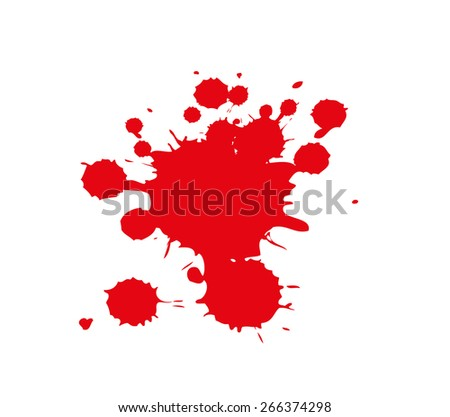 red paint splash isolated on white