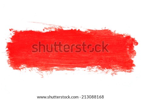 Red paint stroke