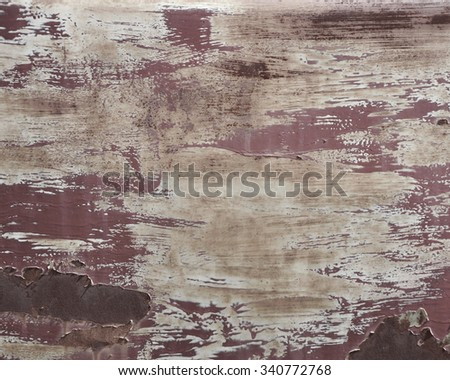 red paint weathered metal backdrop - stock photo