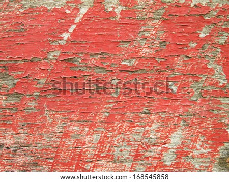 Red painted wood texture - stock photo