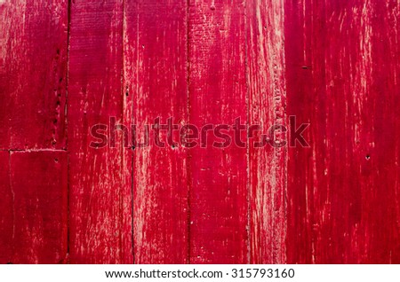 red painted wood wall