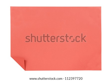 red paper isolated on white