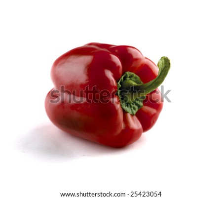 Red paprica isolated on white background - stock photo