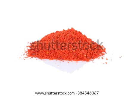 Red paprika. Isolated on white background