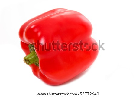 Red paprika isolated on white, studio shot