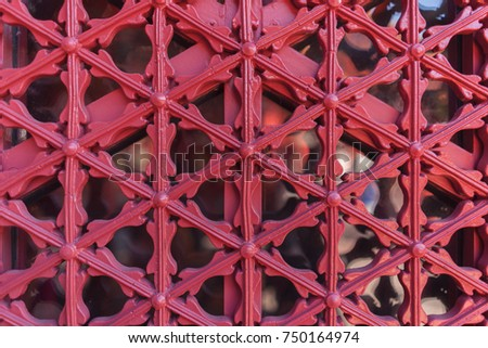 Red Patterned Door And Window