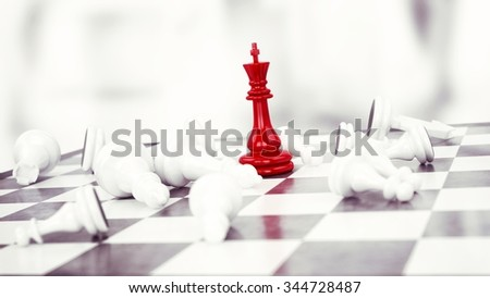 Red pawn chess wins against white pawns