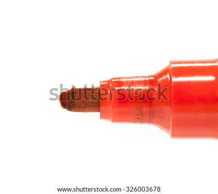 red pen color - stock photo
