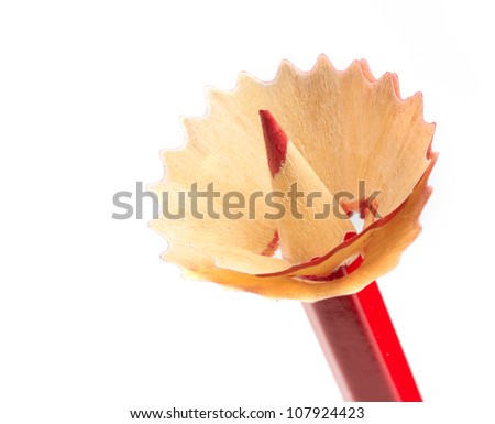 red pencil as flower symbol