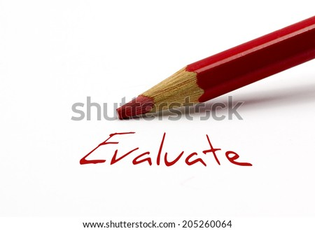Red pencil - Evaluate - stock photo