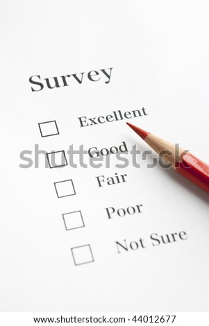 Red Pencil on Questionnaire