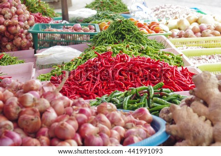 red pepper at street stall