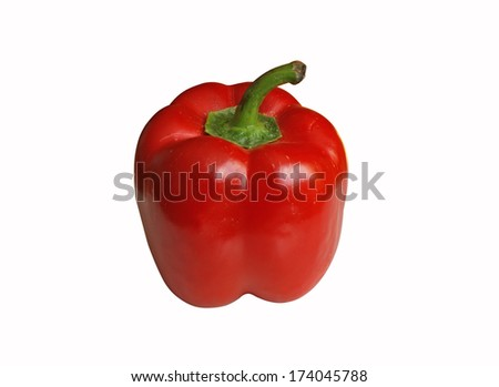 red pepper isolated - stock photo
