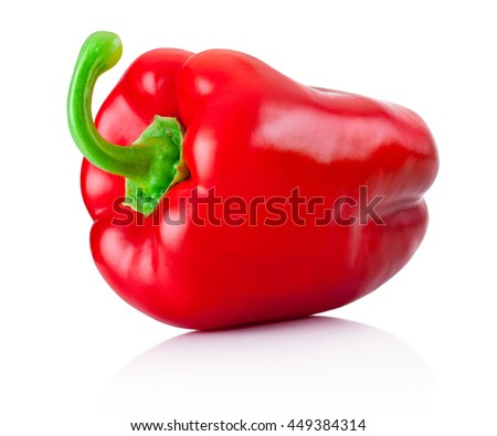 Red pepper isolated on a white background - stock photo