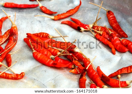 Red pepper on tray
