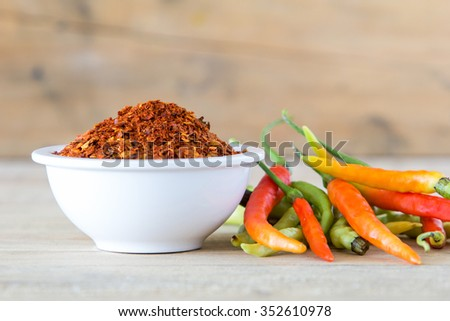 Red peppers ,Cayenne pepper ,red spice paprika pepper - stock photo