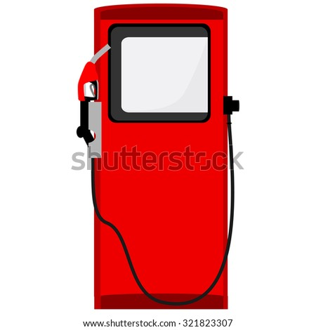 Red petroleum filling column raster icon isolated