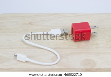 red Phone battery charger - plug