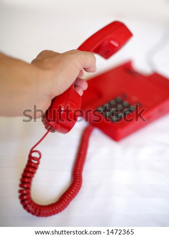 red phone close up picture