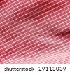 Red picnic cloth. More of this motif & more fabrics in my port. - stock photo