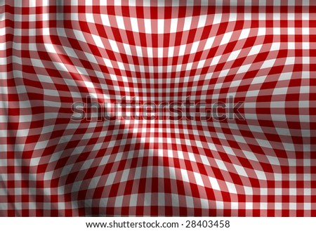Red picnic texture with soft shades on it - stock photo