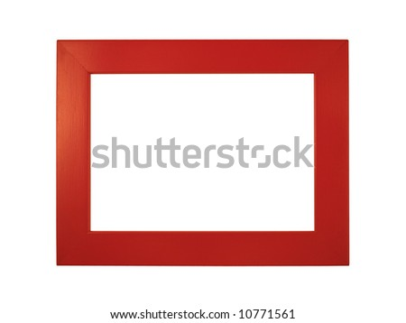 Red picture frame - stock photo