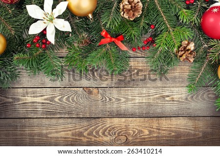 Red, pine, background. - stock photo