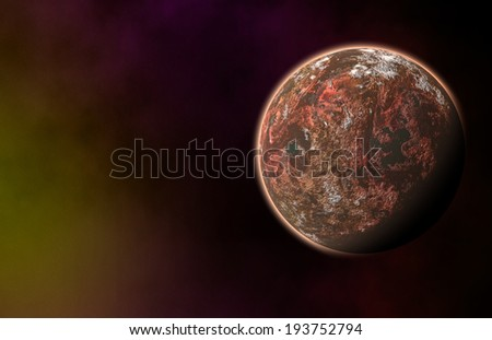 red planet on cosmos stars backgrounds