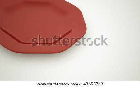 Red plate concept rendered