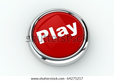 Red play push button