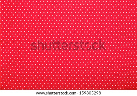 red polka dot background - stock photo