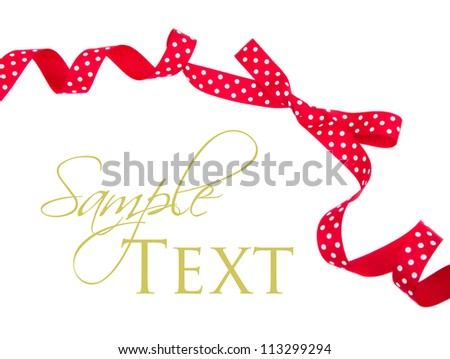 Red polka dot bow isolated on white - stock photo