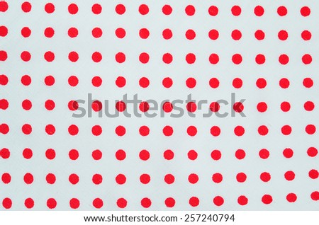 Red polka dot fabric texture - stock photo