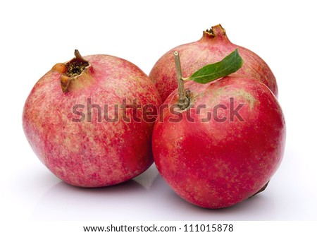 Red Pomegranate Fruits - stock photo
