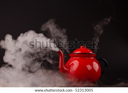 red pot - stock photo