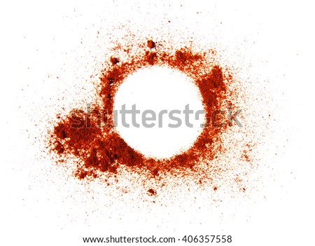 Red powder circle background - stock photo