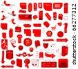 Red Price Tag Set - stock photo